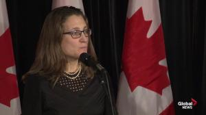 'NAFTA a very good trade deal' for Canada: Freeland